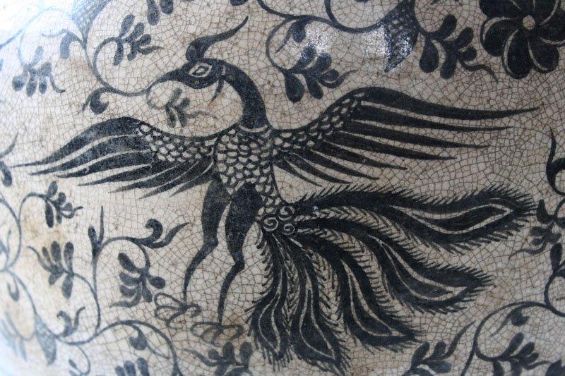Antique Decorated Lanna Vase EUO46M4
