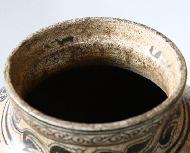 Antique Decorated Lanna Vase EUO46M7