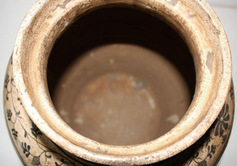 Antique Decorated Lanna Vase EUO46M8