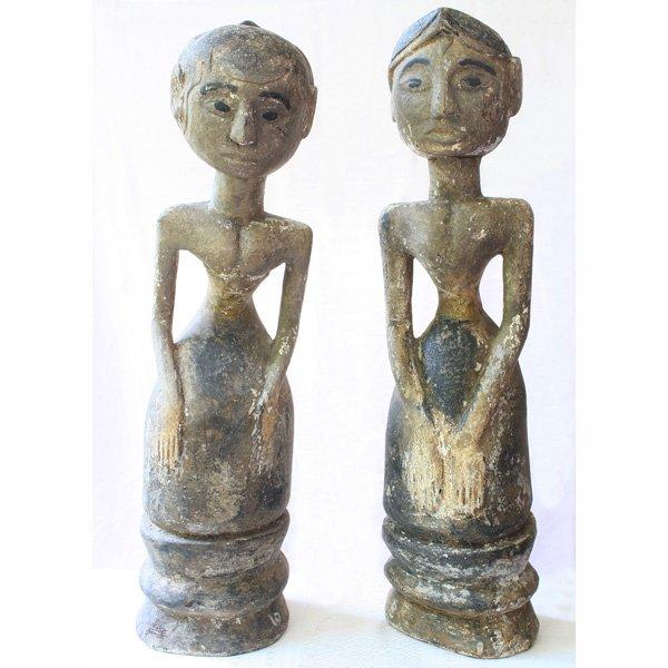 Antique Javanese Wood Carvings Loro Blonyo