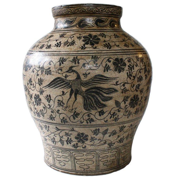 antique Thai ceramic vase