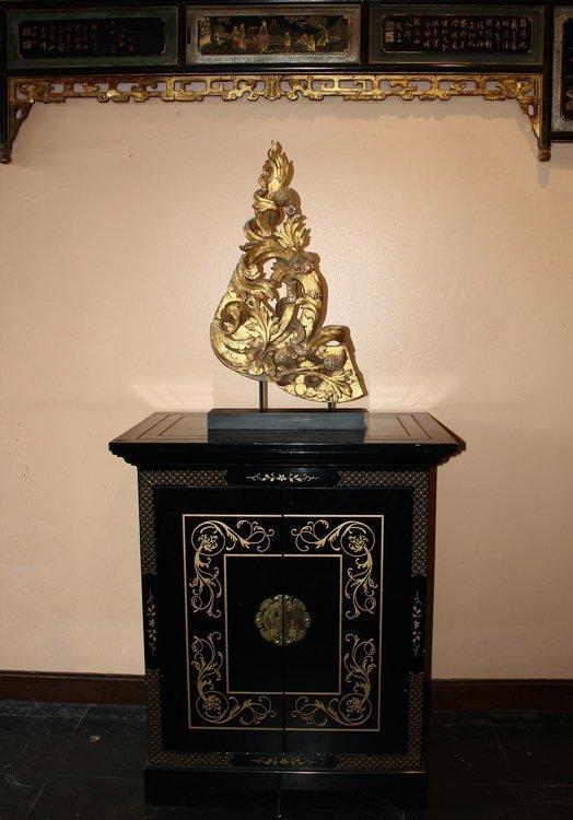 Rare antique Buddhist temple sculpture wood carving ABA09M11