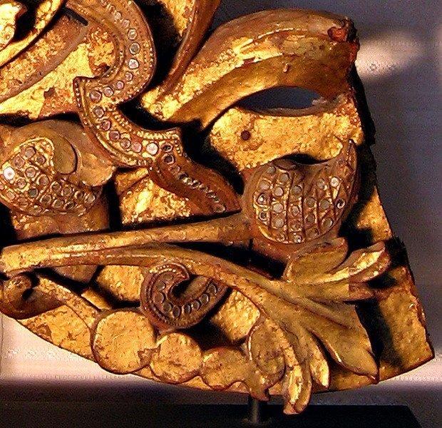 Rare antique Buddhist temple sculpture wood carving ABA09M4