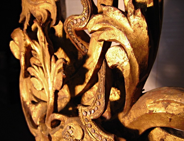 Rare antique Buddhist temple sculpture wood carving ABA09M6