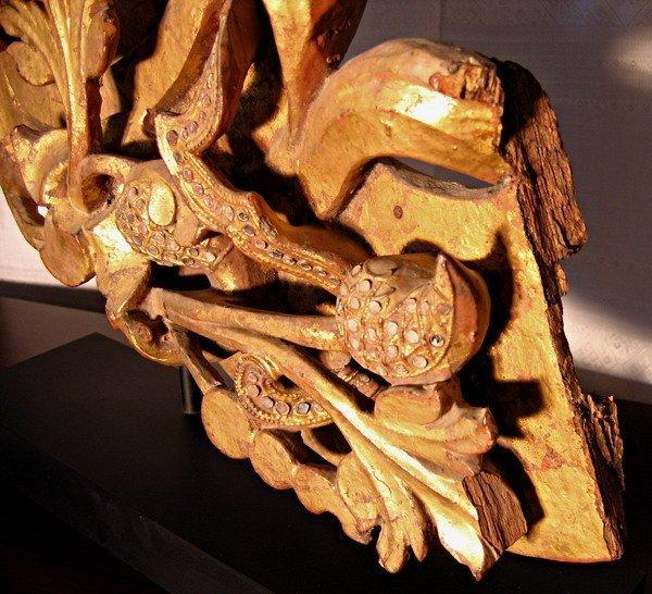 Rare antique Buddhist temple sculpture wood carving ABA09M7