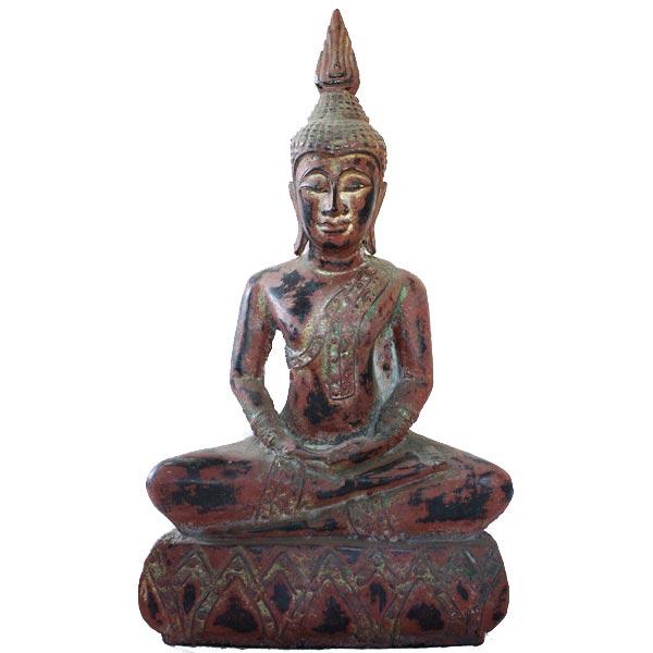 Antique Thai Wooden Buddha Statue