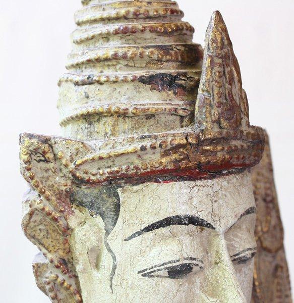 Antique Burmese Teppanom Angels Wood Carving ABA67M3