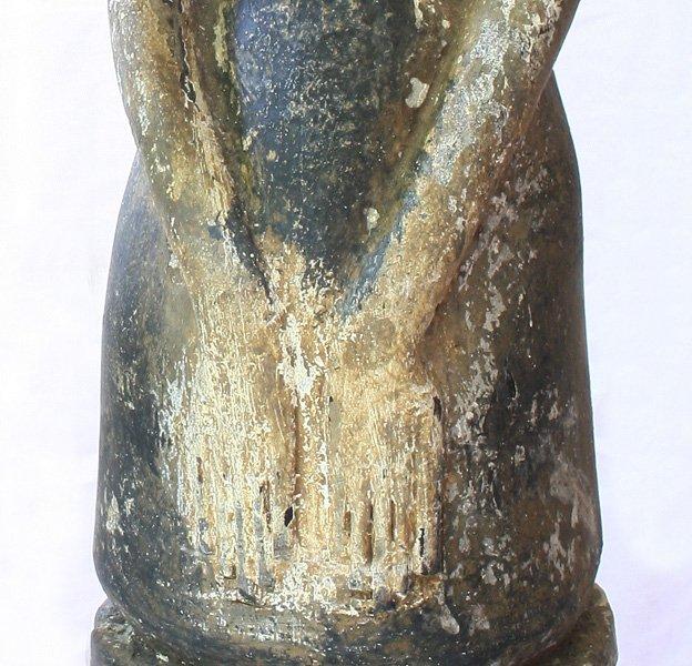 "Javanese ""Loro Blonyo"" Wood Carving Statues EUO119M8"