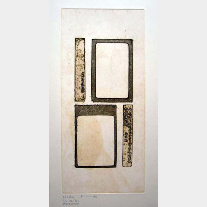 Original Etching by Thai Artist entitled Perfect 10