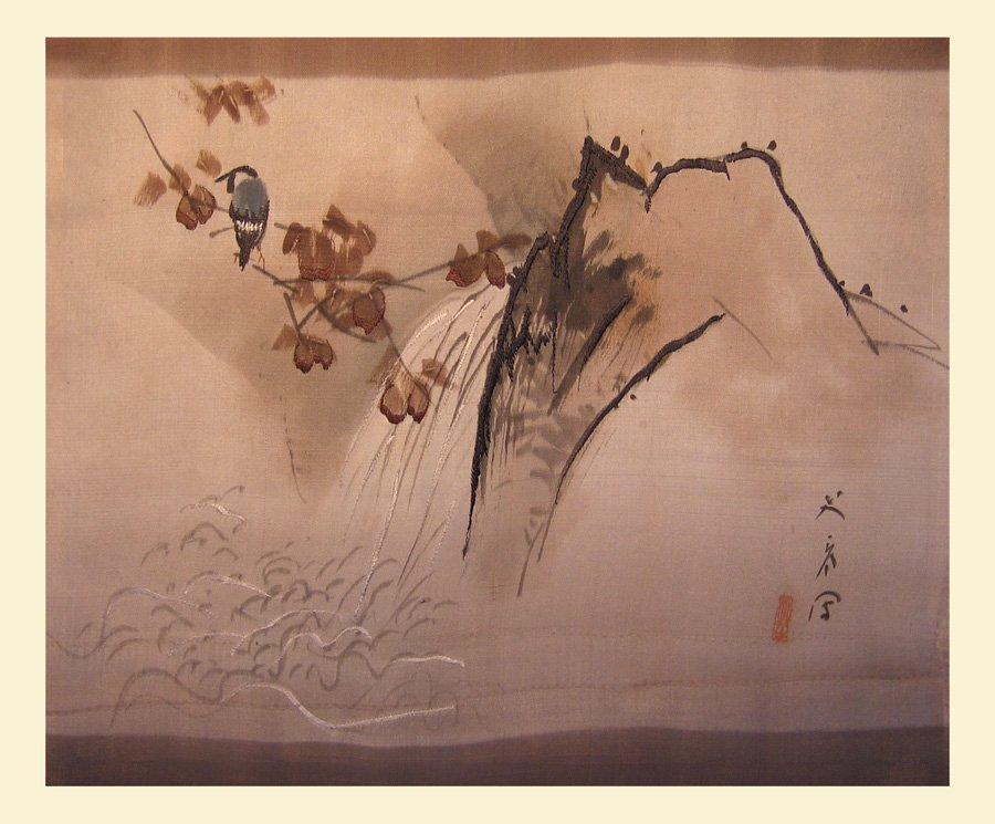 Antique Silk Kimono Meiji Period Silk Art AKJ01M