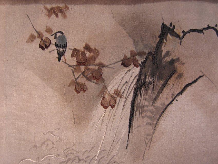 Antique Silk Kimono Meiji Period Silk Art AKJ01M2