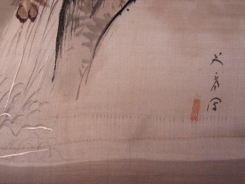 Antique Silk Kimono Meiji Period Silk Art AKJ01M3
