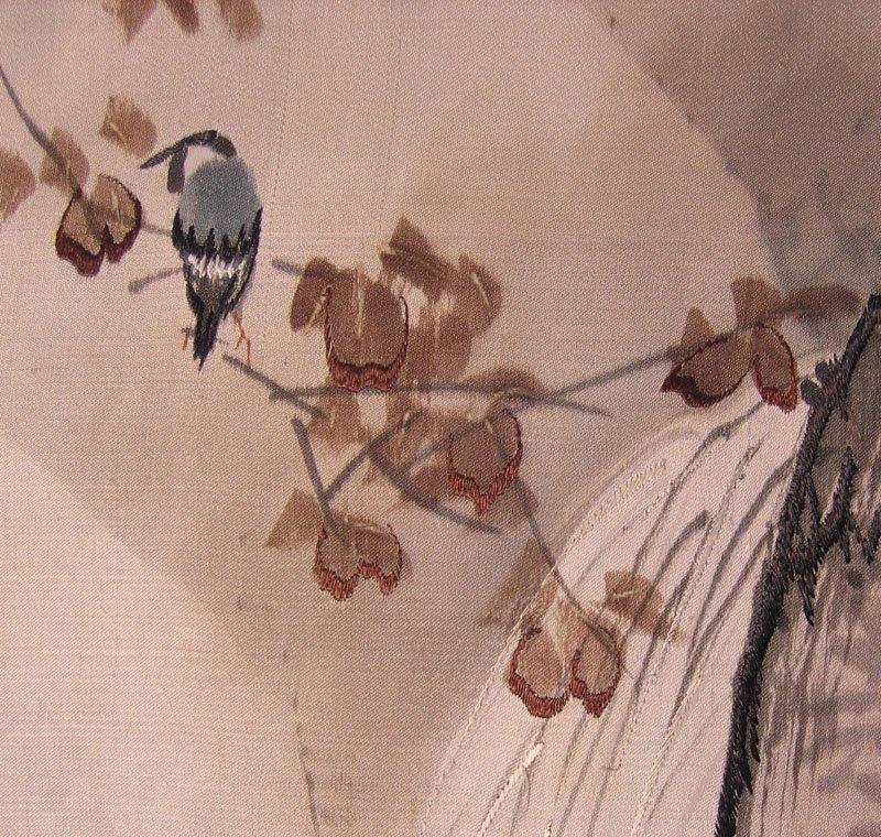 Antique Silk Kimono Meiji Period Silk Art AKJ01M4