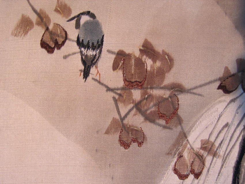 Antique Silk Kimono Meiji Period Silk Art AKJ01M7