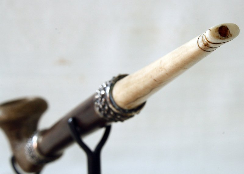 Antique hill tribe tobacco pipe Laos EAP17M4
