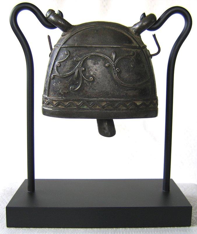Antique bronze buffalo bell Burma EBB20M
