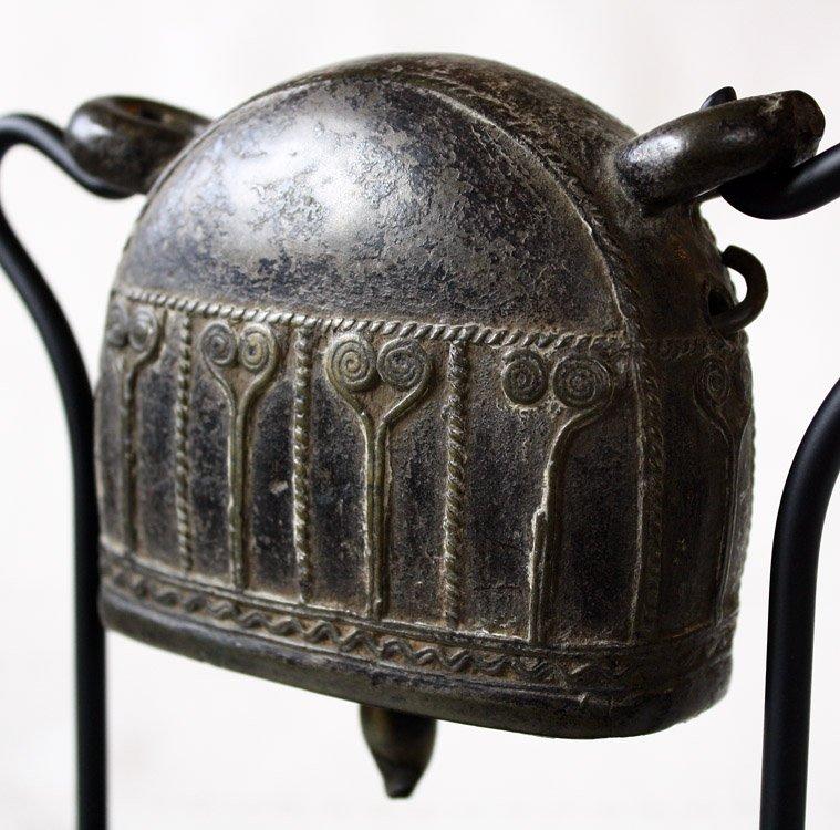 Antique bronze Burmese buffalo bell EBB42M4