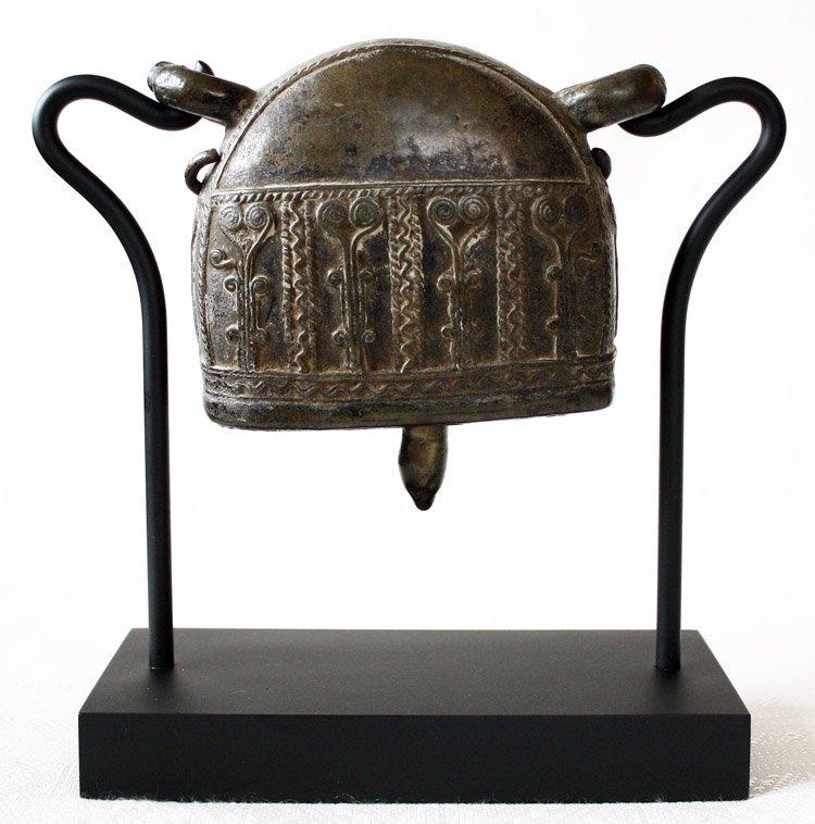 Antique bronze Burmese buffalo bell EBB42M5