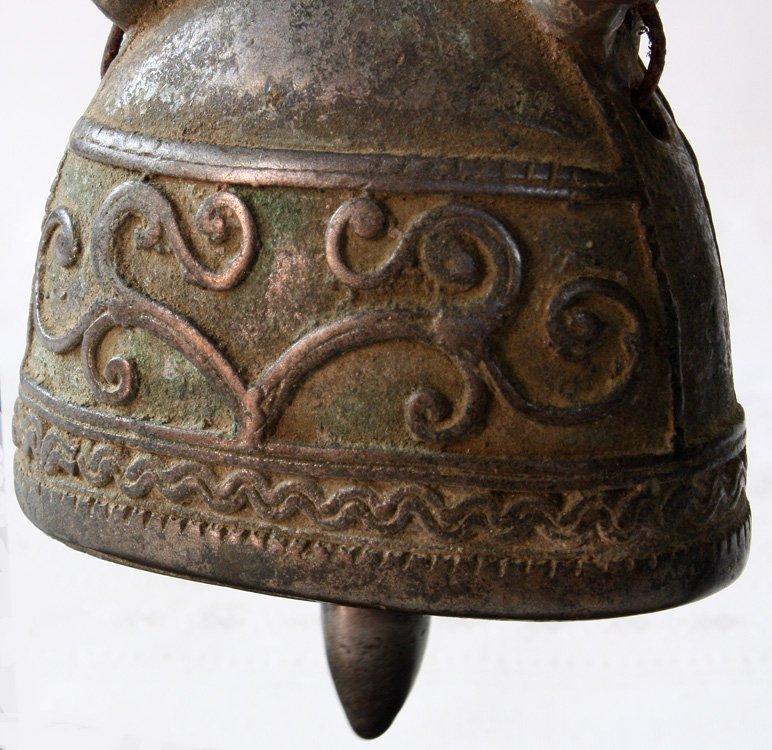 Burmese antique bronze buffalo bell EBB60M3