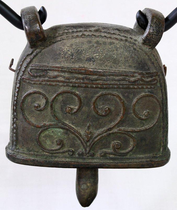 Antique bronze buffalo bell Burma EBB64M