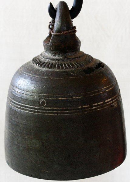Antique bronze temple bell EBB71M2