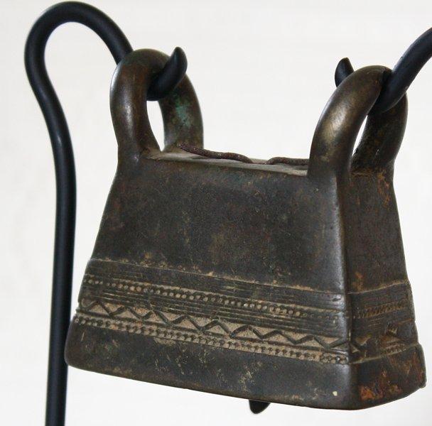 antique bronze Burmese buffalo bell EBB77M2