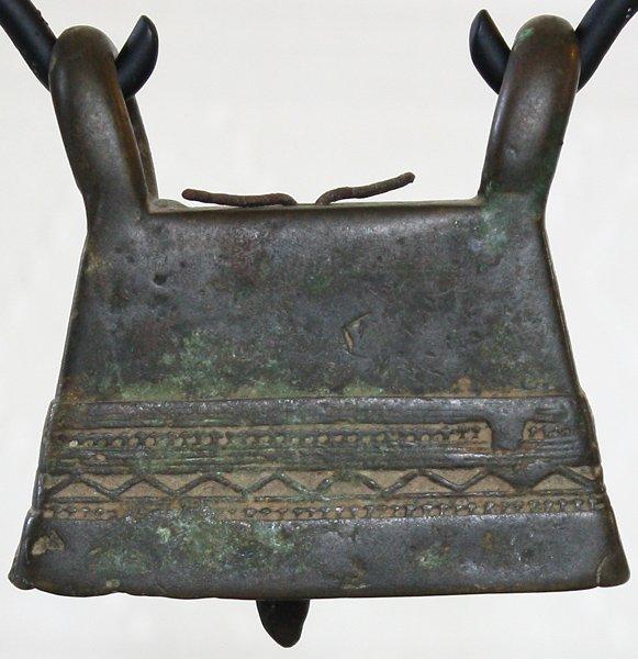 antique bronze Burmese buffalo bell EBB77M3