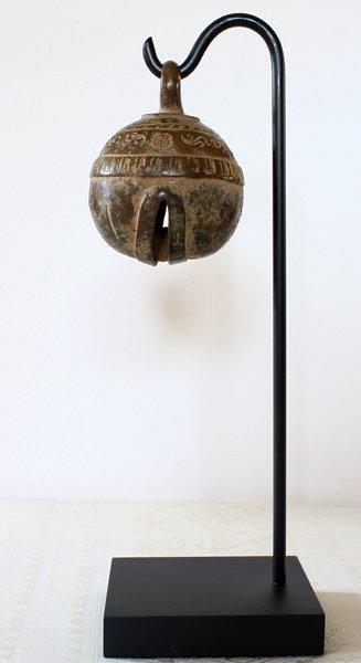 antique bronze elephant bell Burma EBB86