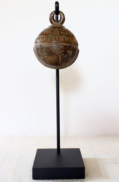 antique bronze elephant bell Burma EBB86M2