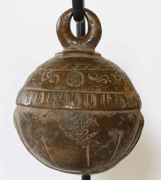 antique bronze elephant bell Burma EBB86M4