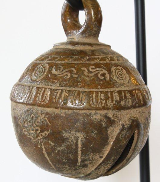 antique bronze elephant bell Burma EBB86M5