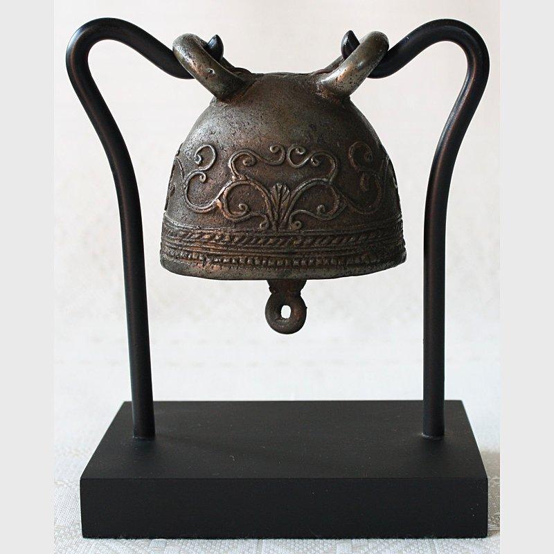antique bronze buffalo bell burma