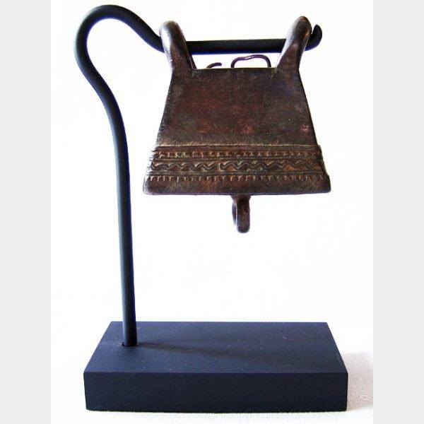 antique bronze buffalo bell