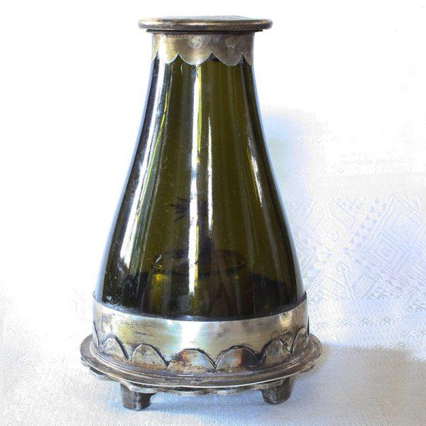 antique opium oil lamp from Laos