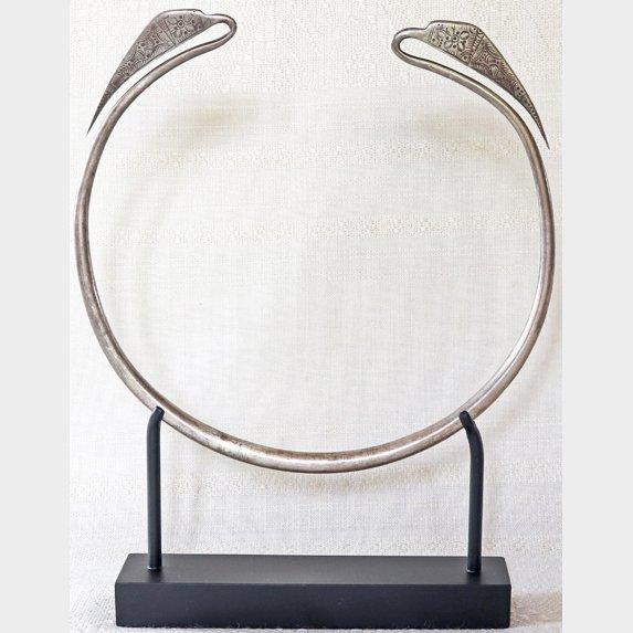 antique silver Hmong torque