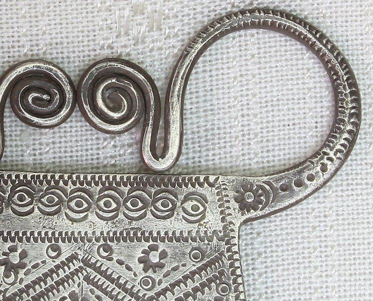 Antique Hmong silver soul lock pendant ETJ145M2