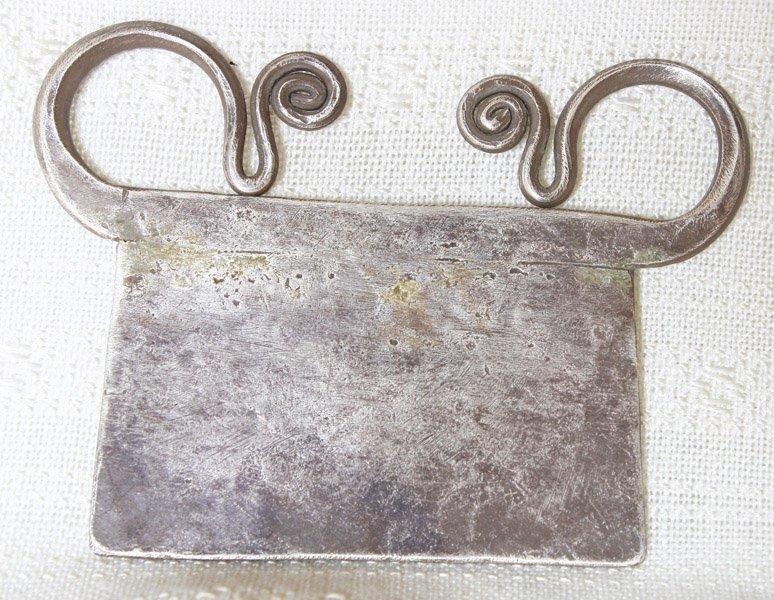 Antique Hmong silver soul lock pendant from Laos ETJ163M