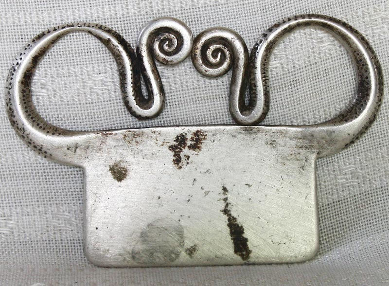 Large Antique Hmong soul lock silver tribal pendant ETJ170M