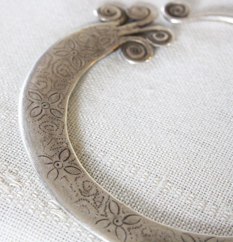 Antique Hmong Silver Earrings ETJ171M5