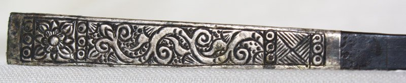 Antique hill tribe silver and teak hairpin from Vietnam ETJ173M