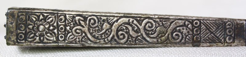 Antique hill tribe silver and teak hairpin from Vietnam ETJ173M2