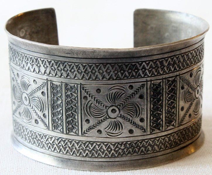 Antique tribal silver bracelet Laos ETJ75M