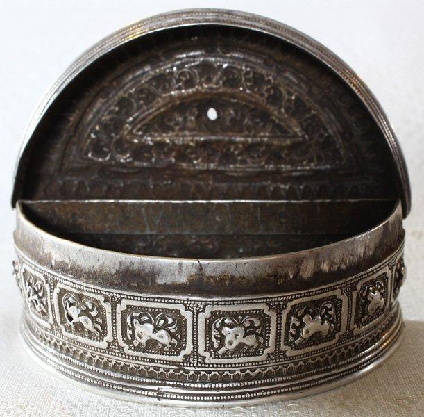 Rare antique Hmong silver box EUO107M5