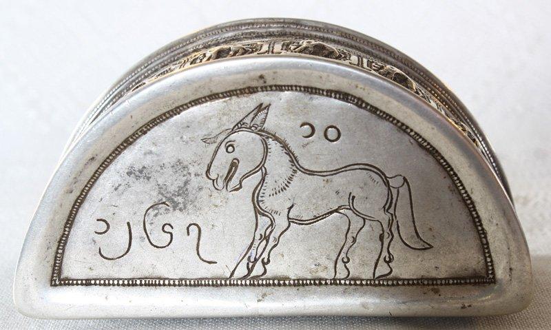 Rare antique Hmong silver box EUO107M6