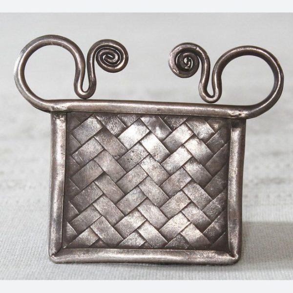 Antique Hmong tribal silver pendant
