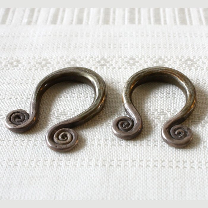 antique Hmong silver earrings