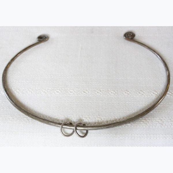 antique Hmong silver neck ring