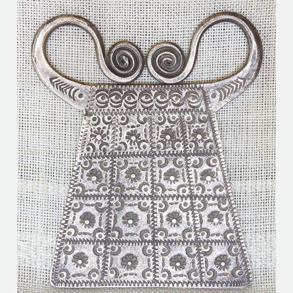 Antique Hmong silver pendant Laos