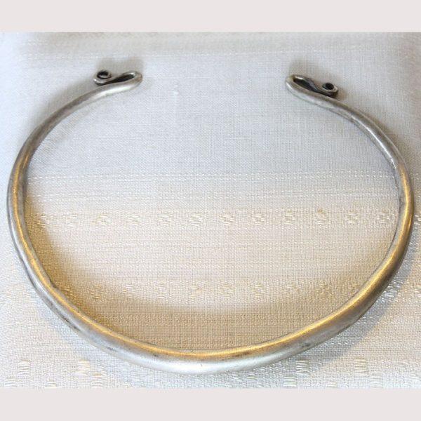 antique hmong silver torque