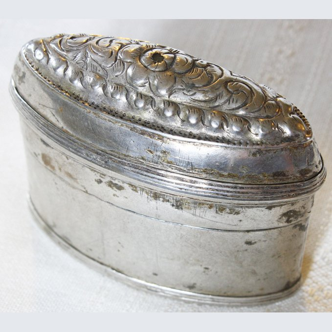 Antique silver box Hmong Laos